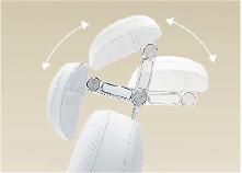 可視需要改變角度活動範圍寬廣的雙關節枕